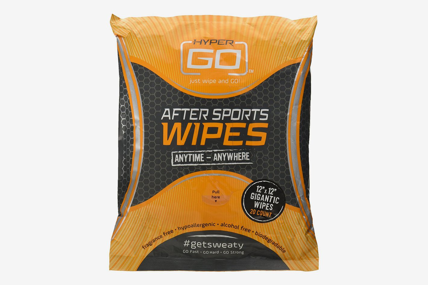 HyperGo After Sports Wipes, Full Body Wipes, 20 Count