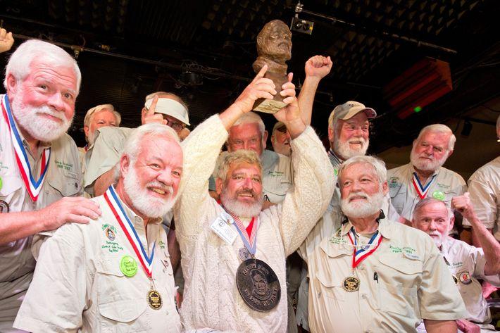 A whole lotta Hemingways.