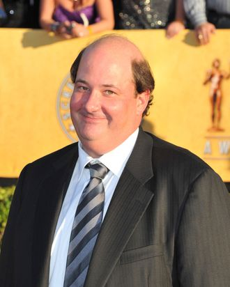 LOS ANGELES, CA - JANUARY 29: Actor Brian Baumgartner arrives at the 18th Annual Screen Actors Guild Awards at The Shrine Auditorium on January 29, 2012 in Los Angeles, California. (Photo by Alberto E. Rodriguez/Getty Images)