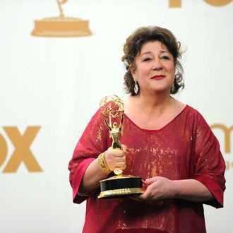 Actress Margo Martindale poses in the press room during the 63rd Annual Primetime Emmy Awards held at Nokia Theatre L.A. LIVE on September 18, 2011 in Los Angeles, California on September 18, 2011 in Los Angeles, California.