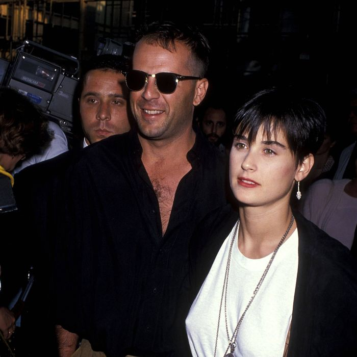 Actor Bruce Willis and actress Demi Moore attend the
