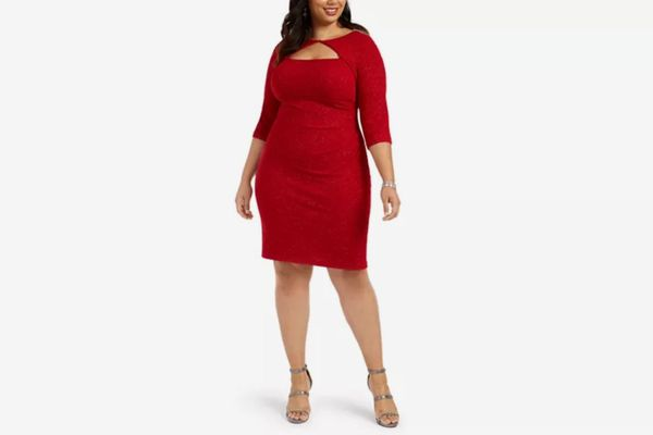 Alex Evenings Plus Size Cutout Sheath Dress