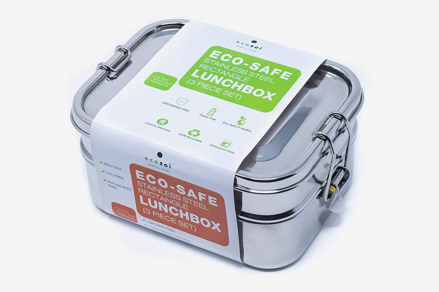 5e8f756f9db Ecozoi Leak-Proof Stainless Steel 1-Tier Eco Lunch Box