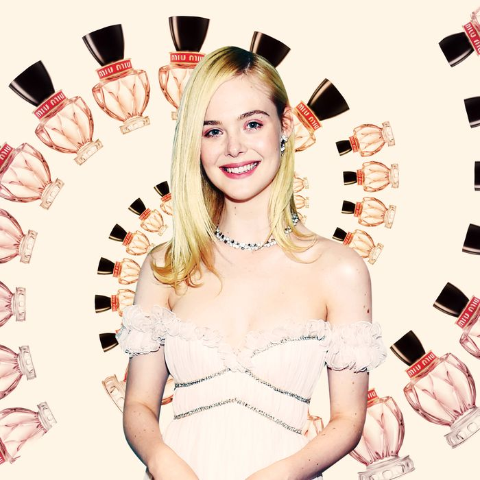 49e7585a84aa Interview with Elle Fanning for Miu Miu Twist Fragrance
