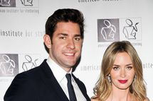 "NEW YORK, NY - JUNE 03:  John Krasinski and Emily Blunt attend the 7th Annual ""Freeing Voices, Changing Lives"" Benefit Gala at Tribeca Rooftop on June 3, 2013 in New York City.  (Photo by Daniel Zuchnik/Getty Images)"