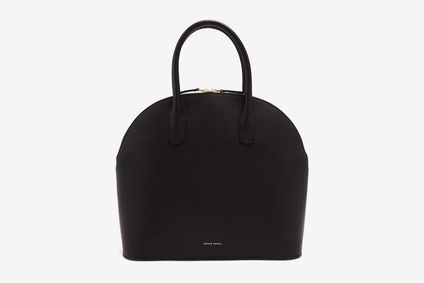 Mansur Gavriel Red-Lined Top Handle Leather Bag