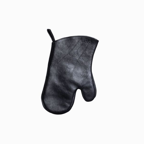 Living Steel Leather Oven Mitts