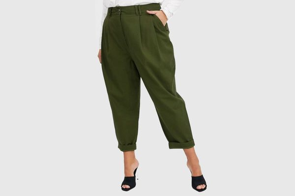 ASOS Curve Ovoid Pleat Front Peg Pants