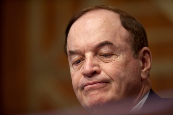 Mar. 15, 2011 - Washington, District of Columbia, U.S. - Senator RICHARD SHELBY (R-AL) listens to testimony during a Senate Banking, Housing and Urban Affairs committee hearing on ''The Administration's Report to Congress: Reforming America's Housing Finance Market. (Credit Image: © Pete Marovich/ZUMAPRESS.com)