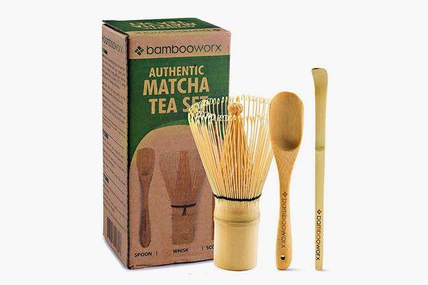 BambooWorx Japanese Tea Set, Matcha Whisk