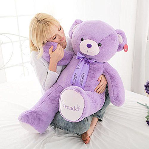 "Niuniu Daddy 31.5"" Giant Purple Teddy Bear"