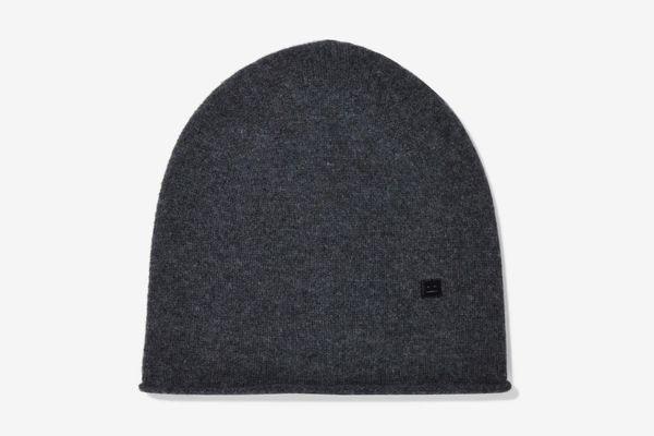 Acne Studios Melange Wool Beanie, Charcoal
