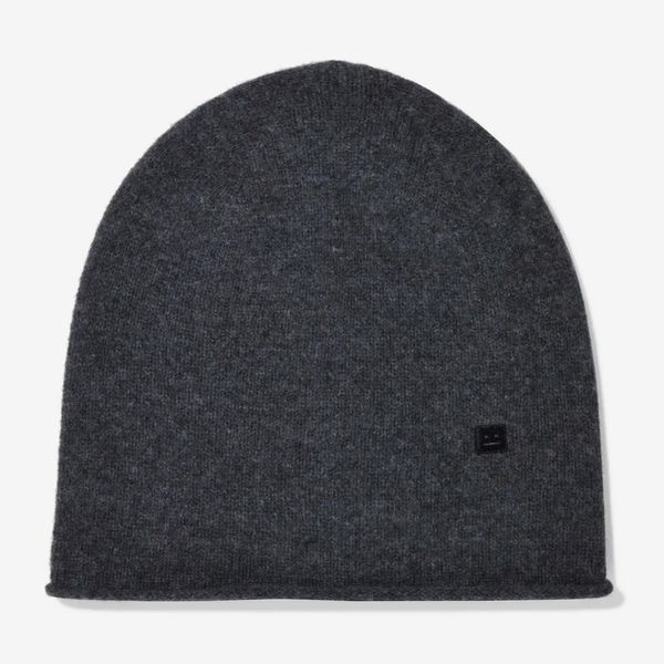 Acne Studios Melange Wool Beanie, Charcoal - strategist best gray wool acne studios beanie