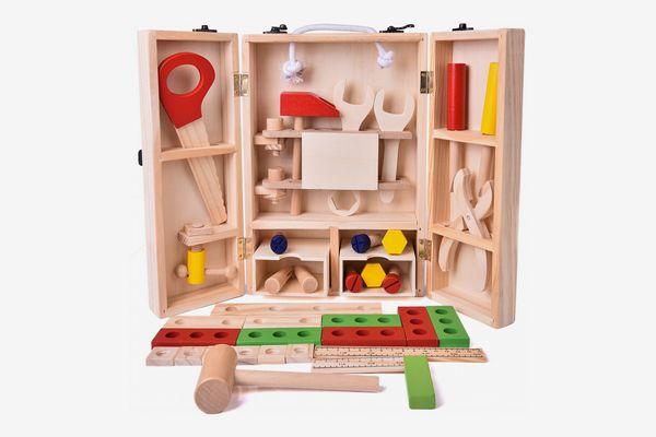 43 PCs Kids Tool Box Wooden Construction Set