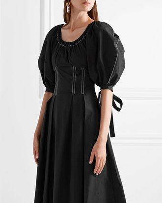 This Rejina Pyo Black Dress Is Street Style Bait