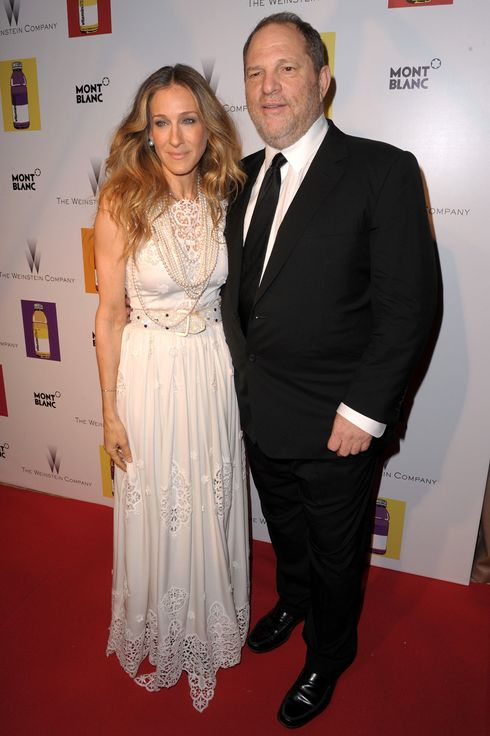 Actress Sarah Jessica Parker (L) and Producer Harvey Weinstein attend The Weinstein Company VIP Press Event at the Martinez Hotel during the 64th Cannes Film Festival on May 13, 2011 in Cannes, France.
