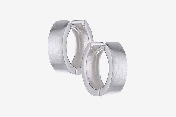 sense925 Sterling Silver Hinged Hoop Earrings