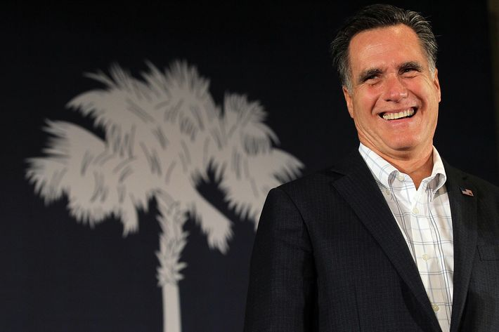 COLUMBIA, SC - JANUARY 11:  Republican presidental hopeful and former Massachusetts Gov. Mitt Romney speaks during a campaign rally at The Hall at Senate's End on January 11, 2012 in Columbia, South Carolina. A day after winning the New Hampshire primary, Mitt Romney is launching his campaign in South Carolina.  (Photo by Justin Sullivan/Getty Images)