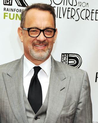 Actor Tom Hanks attends the after party for the 2012 Concert for the Rainforest Fund at The Pierre Hotel on April 3, 2012 in New York City.