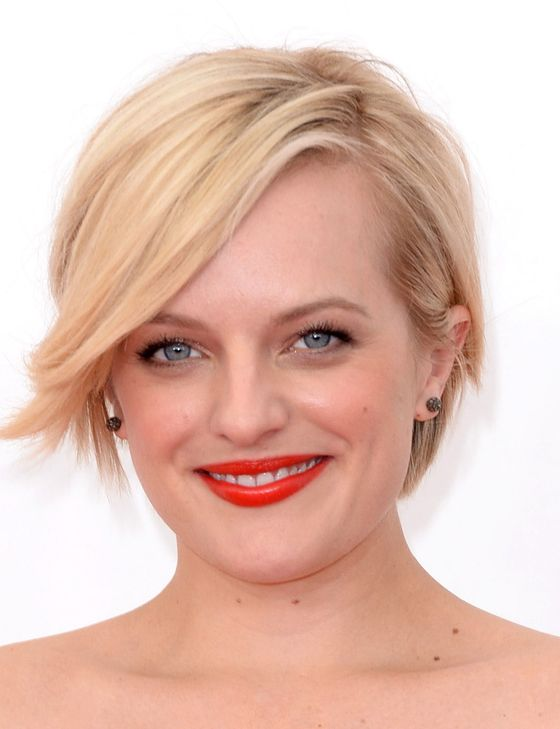 "Hairstylist Alex Polillo was inspired by Michelle Williams's ""modern tousled"" locks from her Louis Vuitton ads. Though we can't ignore similarities to another famous blonde cut, Moss insisted that her style <a href=""http://www.eonline.com/news/461686/mad-men-s-elisabeth-moss-on-her-short-do-i-did-not-copy-miley-cyrus"">predated the Miley</a>. Maybe if Moss had twerked with giant bears instead of delivering two Emmy-nominated performances, we'd be calling this the ""Mossy."""