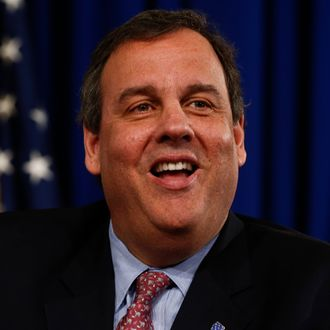Chris Christie Holds Press Conference On Jobs And The Economy In Trenton
