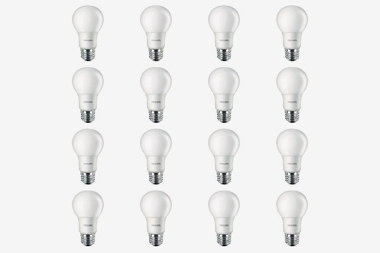Philips LED Non-Dimmable A19 8.5-Watt Frosted Light Bulb 800 Lumen 2700K  (16 Pack)