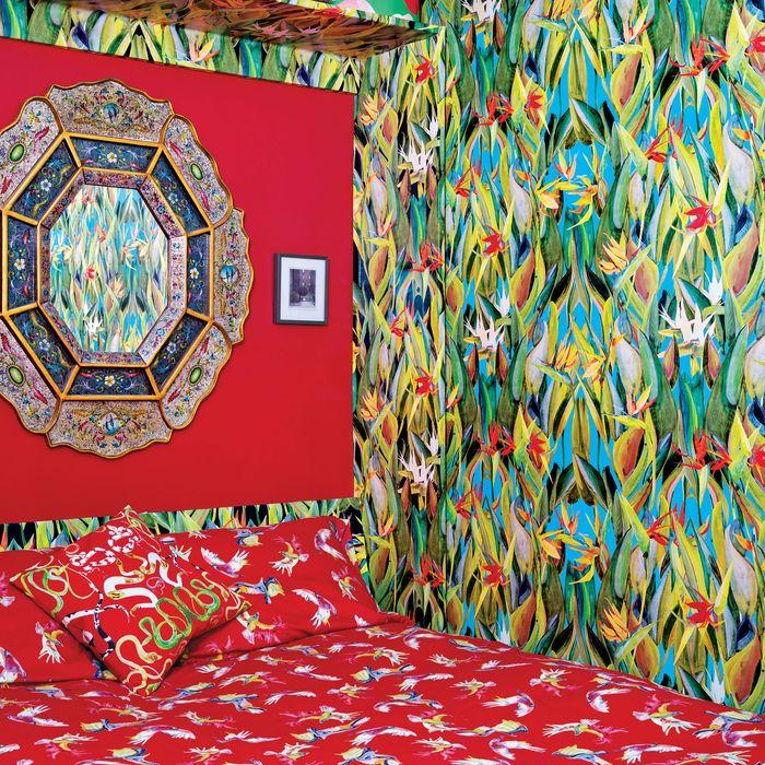 The bedroom in Venson's 275-square-foot studio.