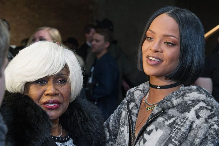 Rihanna and her mom, Monica Braithwaite.