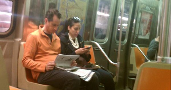 Image result for Anthony Weiner subway