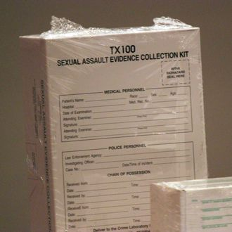 A Sexual Assault Evidence Collection kit as seen at Texas Scottish Rite Hospital for Children, where an educational program was held for health care providers.