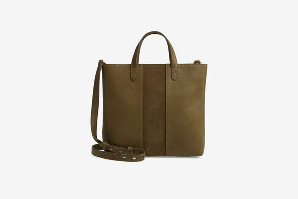 Madewell Small Transport Leather Crossbody Tote