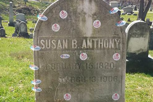 Rochester, N.Y. mayor extends open hours at Mt. Hope Cemetery on Election Day 07-Susan-B-Anthony-gravestone.w710.h473