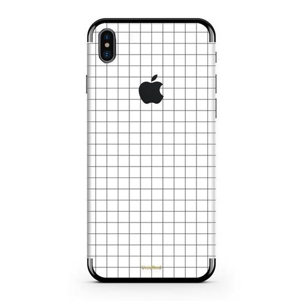 Uniqfind White Grid Skin + Case