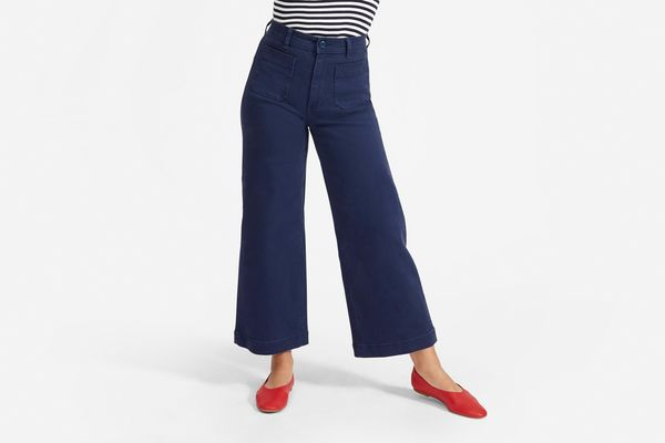 Everlane Wide-Leg Crop Patch-Pocket Pant