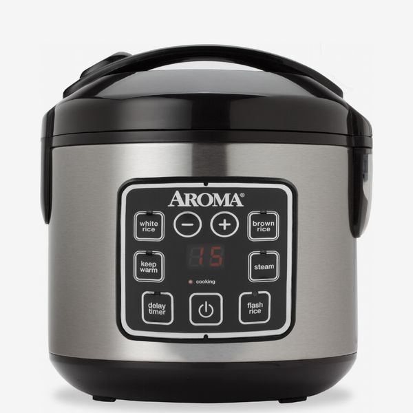 Aroma Housewares Digital Cool-Touch Rice Grain Cooker and Food Steamer, Stainless, 8 Cup