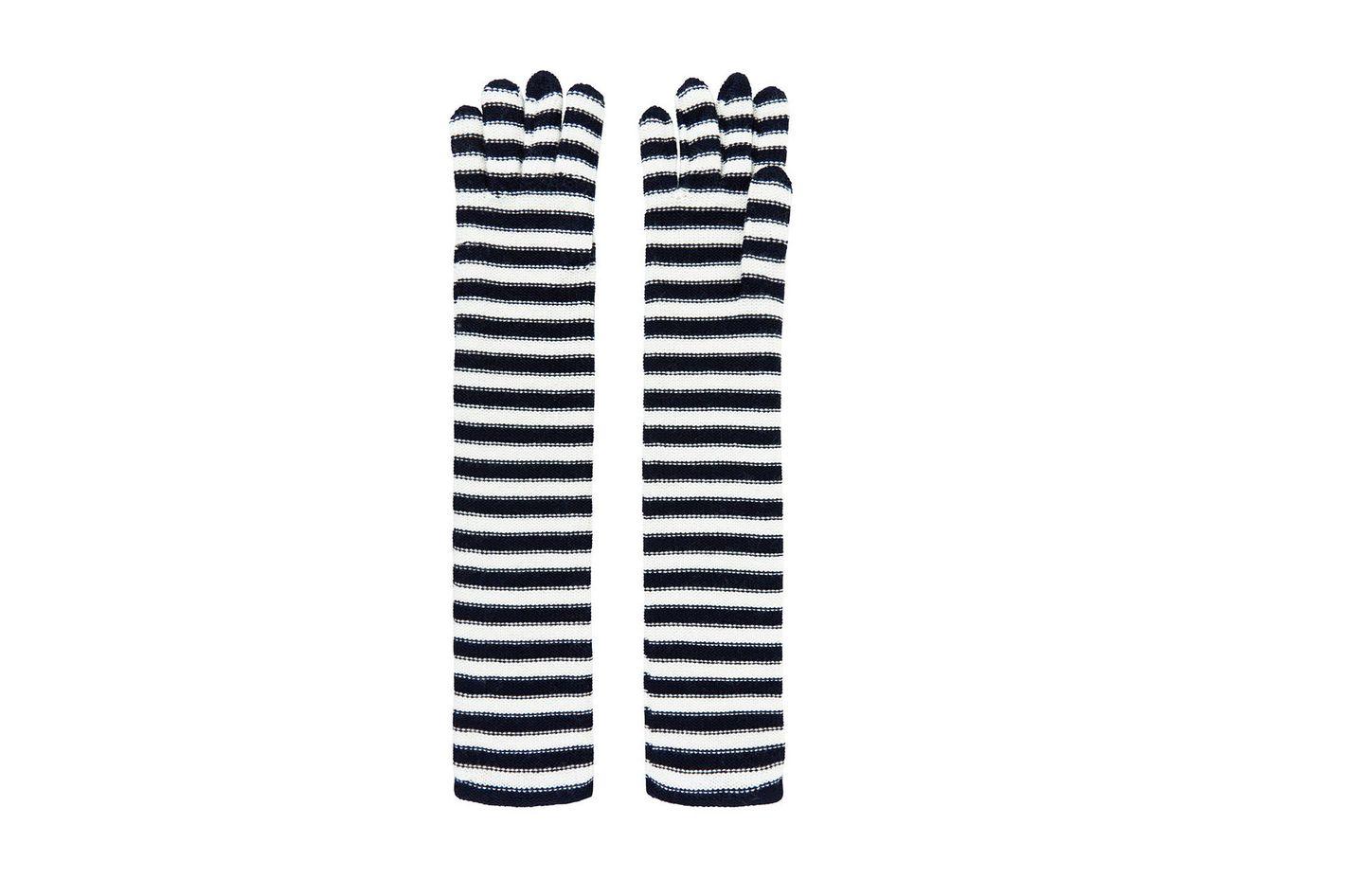 Sonia Rykiel Bi-Color Wool Stripe Gloves