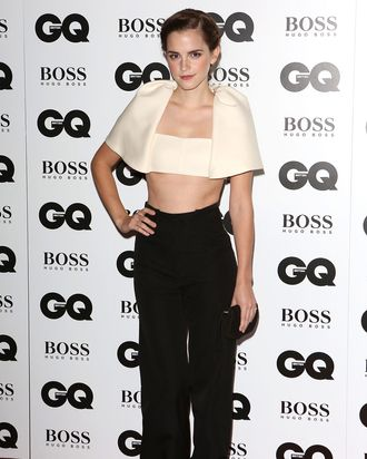 cba76e704f778 Emma Watson Debuted Balenciaga s Bralette With Sleeves