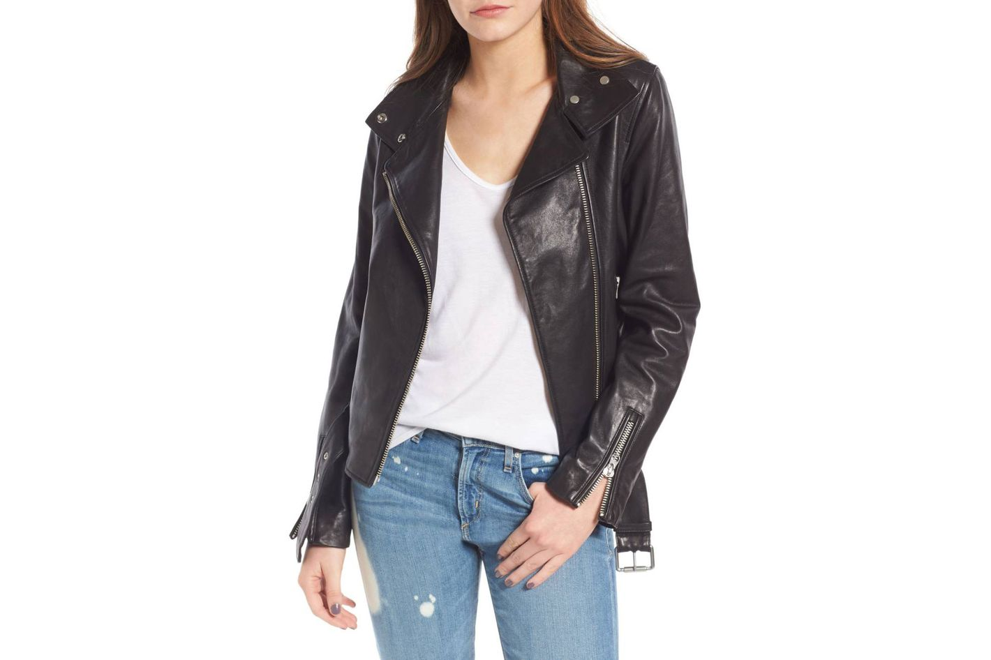 Mackage Belted Leather Moto Jacket