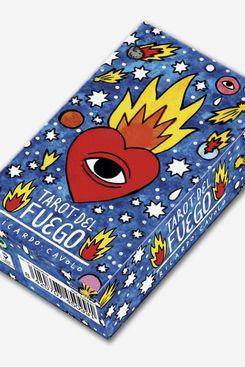 Fournier 1029641 Tarot Del Fuego by Ricardo Cavolo Special Cards Deck, Blue