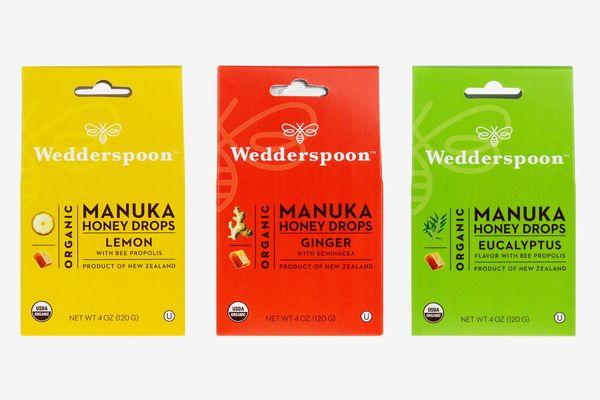 Wedderspoon Organic Gluten-Free Cough Drops Flavor Sampler Bundle