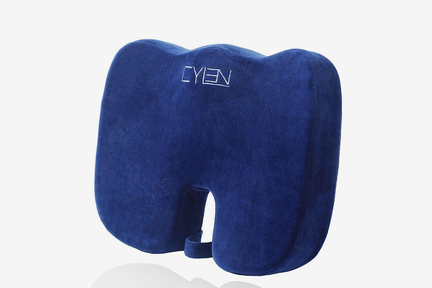 CYLEN -Memory Foam Bamboo Charcoal Infused Ventilated Orthopedic Seat Cushion