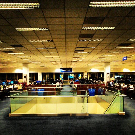 "<a href=""http://instagram.com/p/MZoOHvyWGJ/""></a>  A nighttime trading floor shot, also at Morgan Stanley, by @miltonp2."