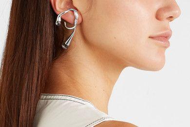 Anne Manns silver quartz earring
