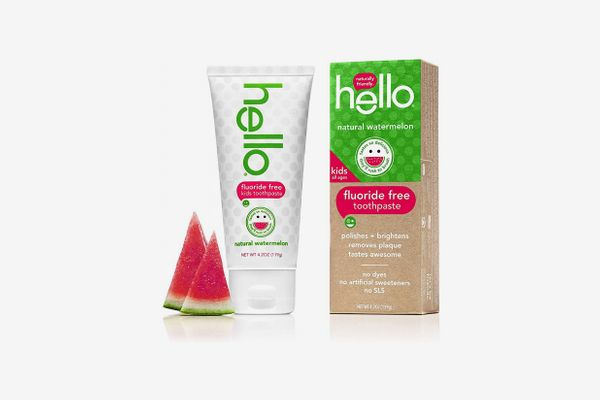 Hello Oral Care Kids Fluoride Free and SLS Free Toothpaste, Natural Watermelon