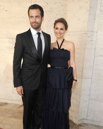 Newlyweds Benjamin Millepied and Natalie Portman.