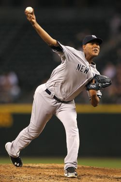 SEATTLE - SEPTEMBER 14:  Starting pitcher Ivan Nova #47 of the New York Yankees pitches against the Seattle Mariners at Safeco Field on September 14, 2011 in Seattle, Washington. (Photo by Otto Greule Jr/Getty Images)