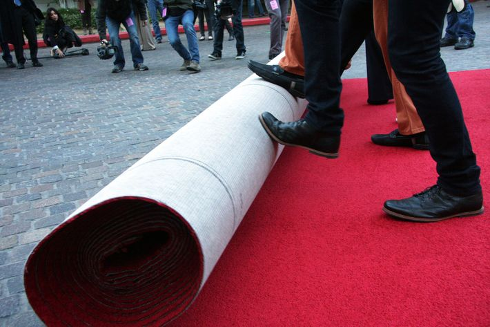 Rolling out the red carpet.