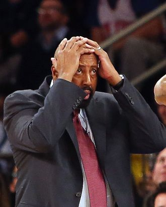Head coach Mike Woodson of the New York Knicks