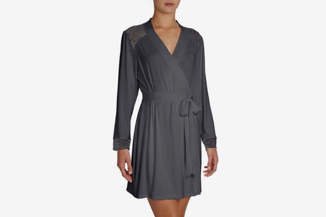 Eberjey Noor Lace-Inset Robe