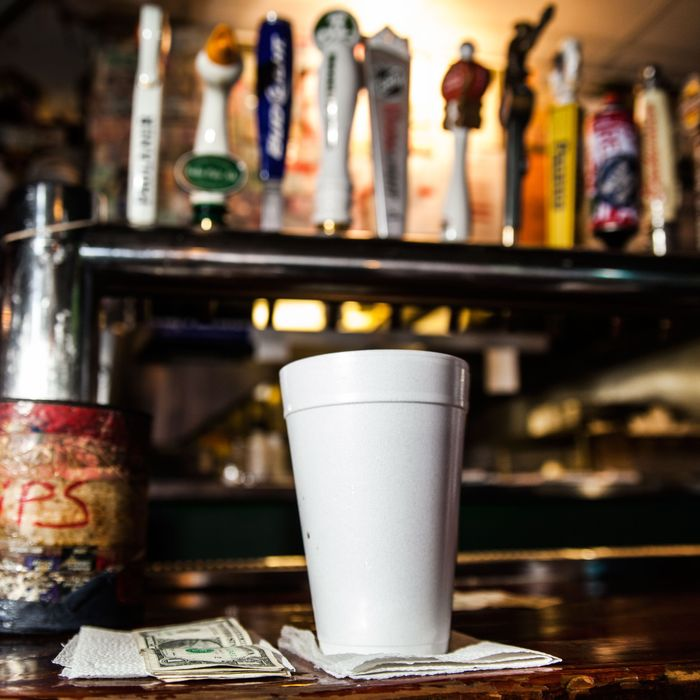 One of the last foam cups at Jeremy's Ale House.